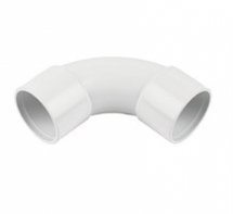 Bend 92 deg Swept 32mm SOLVENT White