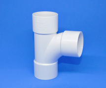 Tee 50mm SOLVENT White