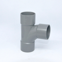 Tee 50mm SOLVENT Grey